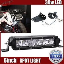 "30W 7"" Inch Slim LED Work Light Bar Single Row Spot Led Car Driving Fog Lamp 8"""