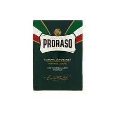 Proraso Aftershave Lotion Green Line 100ml [3.4 fl. oz.] Eucalyptus and Menthol