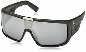 NEW Genuine DRAGON DOMO Sunglasses Shield Matte Black Silver Ionized Lens DR 049
