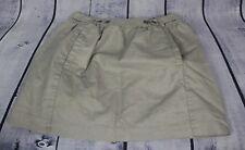 Anthropologie ETT Taia Linen Blend Skirt Size 4 Tan With Silver Shimmer Lined
