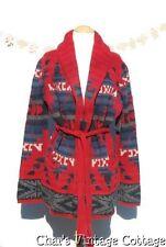 RALPH LAUREN.....American Indian Summer Southwestern Wrap Sweater Sweatercoat L