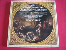 NM BOX SET 5 LP - BACH - DIE WELTLICHEN KANTATEN - SCHREIER - ARCHIV WEST GERMAN
