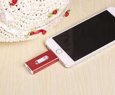 USB 128GB i Flash Red OTG Dual USB Memory Drive U Disk For IOS iPhone iPad/PC