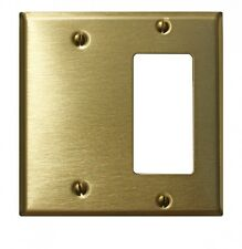 Switchplate Brushed Solid Brass Gfi Blank   Renovator's Supply
