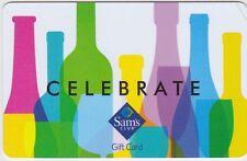 Sam's Club Celebrate Multi-Colored Wine & Liquor Bottles 2017 Gift Card FD-53603
