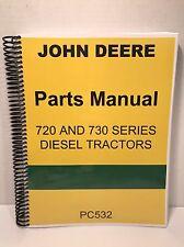 John Deere 720 Diesel Tractor Parts Manual with Complete Parts Break Down