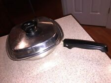Vintage ARISTO-CRAFT Stainless Steel Saucepan Square Cookware With Lid