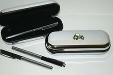 John Deere Green Tractor Chrome Pen Case & 1 Fine Ball point Pen Farming Gift!