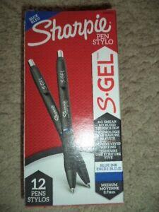 Sharpie🛑 12 👍S-Gel Gel Pens Medium Point (0.7mm) BLUE INK 2096152 unto 20% off