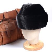 New Men's 100% Real Mink Fur Hat Winter Warm Beret Top Hat Fedora Hat Caps/Hats