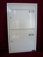 Unterputz Briefkasten anlage 2 er weiss Postkasten Wand Einbau Doppel UPH22-9016