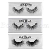 1 Pair 100% Mink Hair Natural Long Eye Lashes False 3D Eyelashes Handmade Makeup