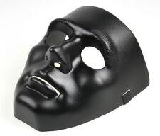Matte Black Full Face Jabbawockeez Dance Crew Plastic Costume Mask Prop