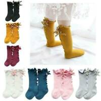 Hot Newborn Baby Toddler Knee High Lace Long Sock Boy Girls Leg Warmers Socks