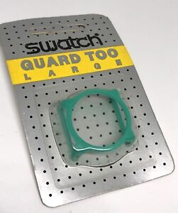 Hard To Find New Teal/Green Vintage Swatch Watch Guard Too Large In Blister ✅