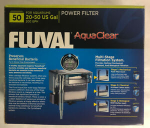 AquaClear, Fish Tank Filter, 20 to 50 Gallons, 50v, A610, USED F2
