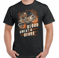 Blood Sweat And Gears Mens Funny Motocross T-Shirt Motorbike Motox Dirt Bike