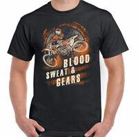 Blood Sweat And Gears Mens Funny Motocross T-Shirt Motorbike Motox Dirt Bike