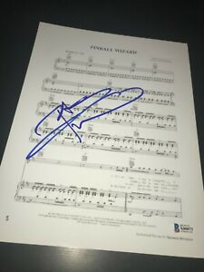 PETE TOWNSHEND SIGNED AUTOGRAPH SHEET MUSIC PINBALL WIZARD THE WHO BECKETT BAS