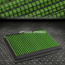 FOR BMW 3/5 SERIES M3/Z3 GREEN REUSABLE/WASHABLE DROP IN AIR FILTER PANEL