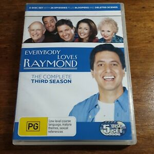 Everybody Loves Raymond Complete Third Season 3 DVD R4 Like New! FREE POST
