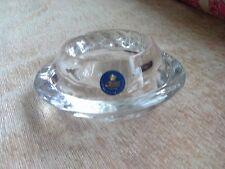 BEAUTIFUL. 'ROYAL COPENHAGEN'   'SWIRL'  ART GLASS CRYSTAL VOTIVE HOLDER - NEW