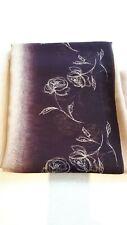 Sari, Purple Fawn colour Floral Pattern - 4.8m Length x 1.1m Width - (6)