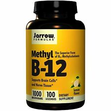 Vitamin B12 Methyl lozenge 1000mcg x100 - B12 in Methylcobalamin form - Jarrow