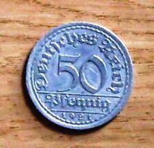 Sehr schöne Kursmünzen der Inflation & Weimarer Republik aus Aluminium