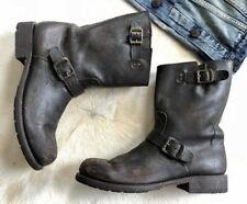 FRYE Men's #87200 Rogan Engineer Dark Brown Leather Boots! Size 13 D