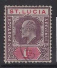 ST.LUCIA SG59 1902 1d DULL PURPLE & CARMINE FINE USED