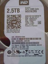 Western Digital WD 25 EZRS -00 kezb 0/hanchv 2aa/29 Jun 2015 - 2,5tb DISCOTECA RIGIDO
