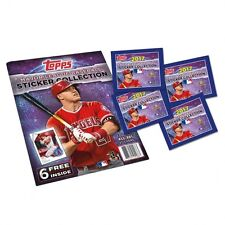 (10) 2017 TOPPS MLB STICKERS WITH ALBUM 10 PACKS WITH 8 STICKERS PER PACK NEW