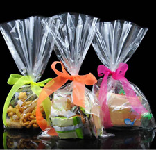 100pcs Transparent Bag Cookies Diy Gift Bag For Wedding Party Packaging 12*25 Cm