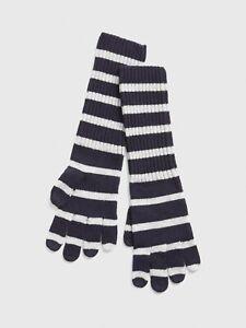 GAP Cozy Stripe Smartphone Gloves Navy Stripe One Size item #397453 Touchscreen