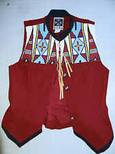 ROPA Stunning Beaded & Red Felt Vest, Size 8, Fully Lined, Pre Loved Very Good