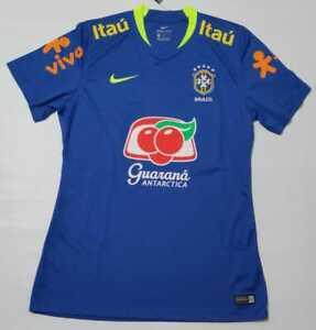 Brazil Training Jersey 2017 Blue Nike Shirt All Sponsor Women's Shirt