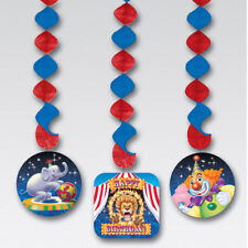 Big Top Circus Party Supplies Hanging Dangling Cutouts 3ct.