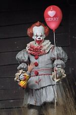 """IT Pennywise 2017 """"I Heart Derry"""" Ultimate 7"""" Figure with Accessories By NECA"""