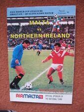 MALTA v NORTHERN IRELAND 26th April 1989 World Cup Qualifier