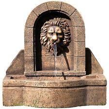 STILISTA Gartenbrunnen Springbrunnen Zierbrunnen Garten Deko Brunnen Löwenkopf