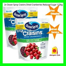 2x Ocean Spray Craisins Reduced Sugar Dried Cranberries 1.2kg Cranberry eBC