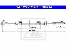ATE Cable, parking brake 24.3727-0214.2