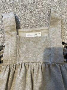 Zara Baby Girl Grey Pinafore Dress Age 2/3 Years