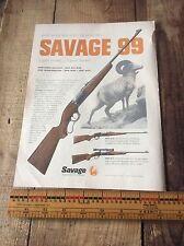 Vintage Savage & Marlin Paper Advertising, Gun , Rifle , Hunting , Ram