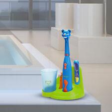 Infantil Dientes Yeso Set Oso Figura Arena Repuesto Cepillo Taza Baño Soporte