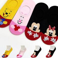 New 4 Pairs Women Socks Pooh Mickey Mouse Friends Cartoon Disney Character Socks
