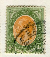 SOUTH AFRICA;  1913-24 early GV issue fine used 4d. value