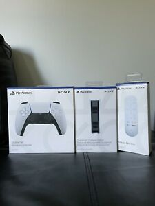 Sony PlayStation 5 DualSense White Wireless Controller Charging Station Remote !