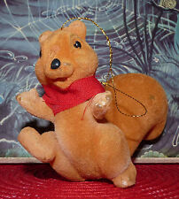 Scarce Vintage Christmas Ornament Squirrel ! Collectible Soft Toys Noël
